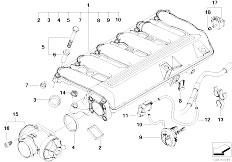 Original Parts for E60 525d M57N Sedan / Engine/ Vacuum
