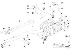 Original Parts for E65 730d M57N2 Sedan / Exhaust System