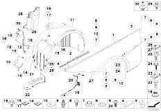 Original Parts for E63 645Ci N62 Coupe / Bodywork/ Front
