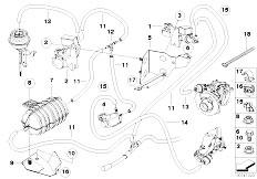 Original Parts for E60 535d M57N Sedan / Engine/ Vacum
