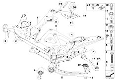 Original Parts for E60 530xi N52 Sedan / Front Axle/ Frnt