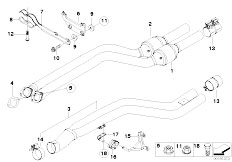 Original Parts for E92 335i N54 Coupe / Exhaust System