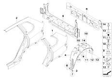 Original Parts for E70 X5 4.8i N62N SAV / Bodywork/ Engine
