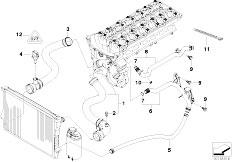 Original Parts for E46 320i M54 Touring / Radiator/ Fan
