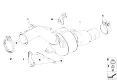 Original Parts for E60N 520d N47 Sedan / Exhaust System