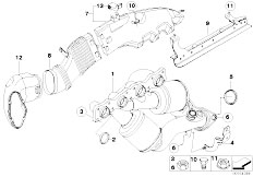 Original Parts for E61N 520i N43 Touring / Exhaust System
