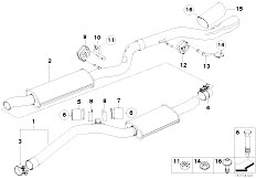 Original Parts for E82 123d N47S Coupe / Exhaust System