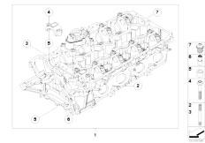 Original Parts for F01 750i N63 Sedan / Engine/ Crankcase