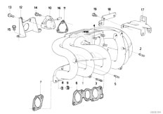 Original Parts for E34 520i M20 Sedan / Engine/ Vacuum