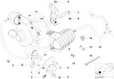 Original Parts for E46 320d M47 Touring / Engine/ Vacum