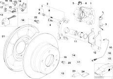 Original Parts for E36 316i M40 Sedan / Brakes/ Parking