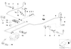 Original Parts for E36 316i 1.9 M43 Compact / Brakes/ Rear