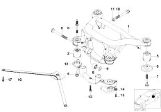 Original Parts for E46 M3 S54 Coupe / Rear Axle