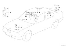 Original Parts for E34 520i M50 Sedan / Lighting/ Various