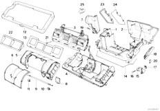 Original Parts for E34 520i M50 Sedan / Heater And Air
