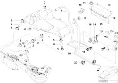 Original Parts for E46 M3 S54 Coupe / Fuel Supply/ Fuel