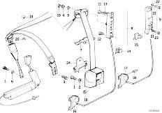 Original Parts for E34 M5 3.8 S38 Sedan / Restraint System