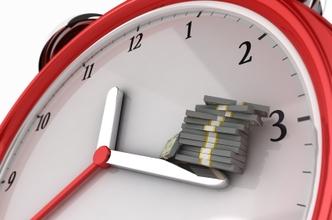 Clock representing money saved through saving time