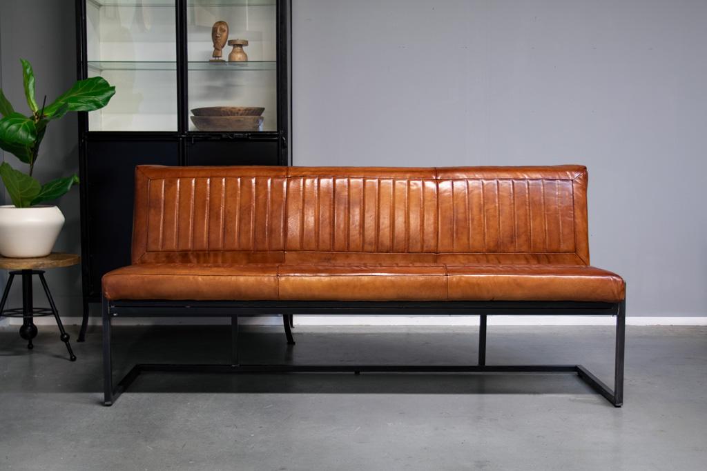 Sitzbank Esszimmer  Kche im VintageStil  Leder