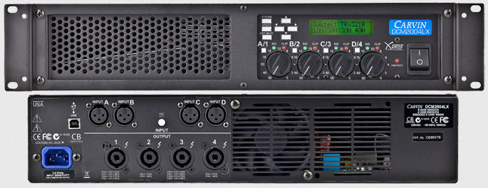 Carvin DCM2004LX XDrive Ultra Light Power Amp  station music