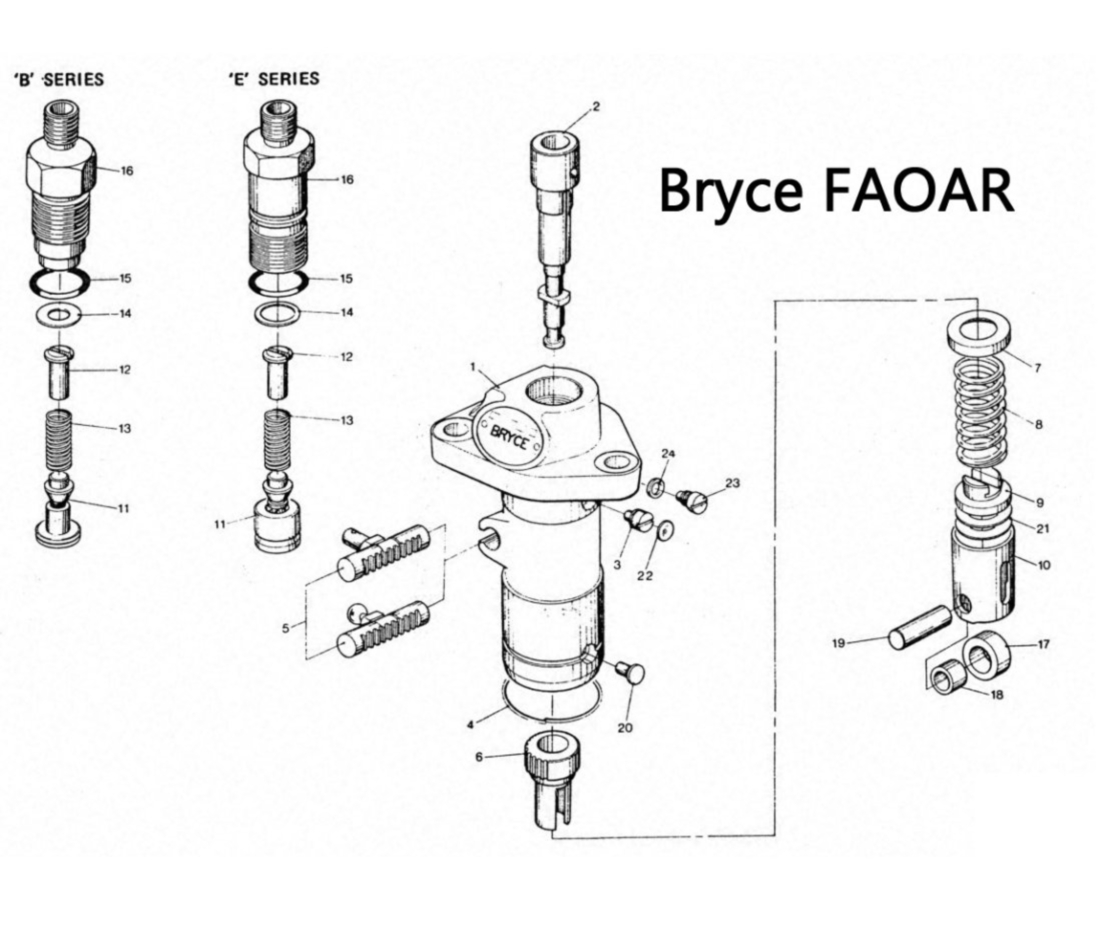 Bryce FAOAR Series Fuel Pump Exploded Parts Diagram
