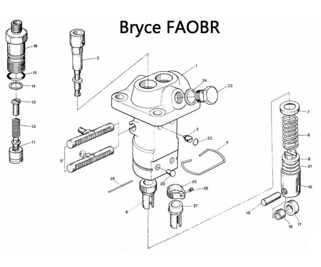 Bryce FAOABR Series Fuel Pump Exploded Parts Diagram