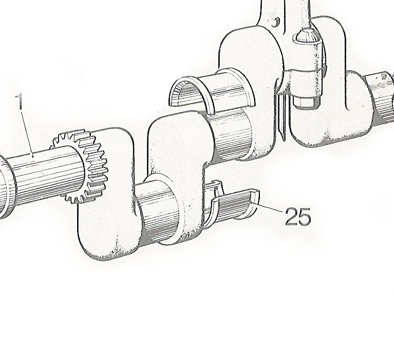 Crankshaft Centre Main Bearing +0.020
