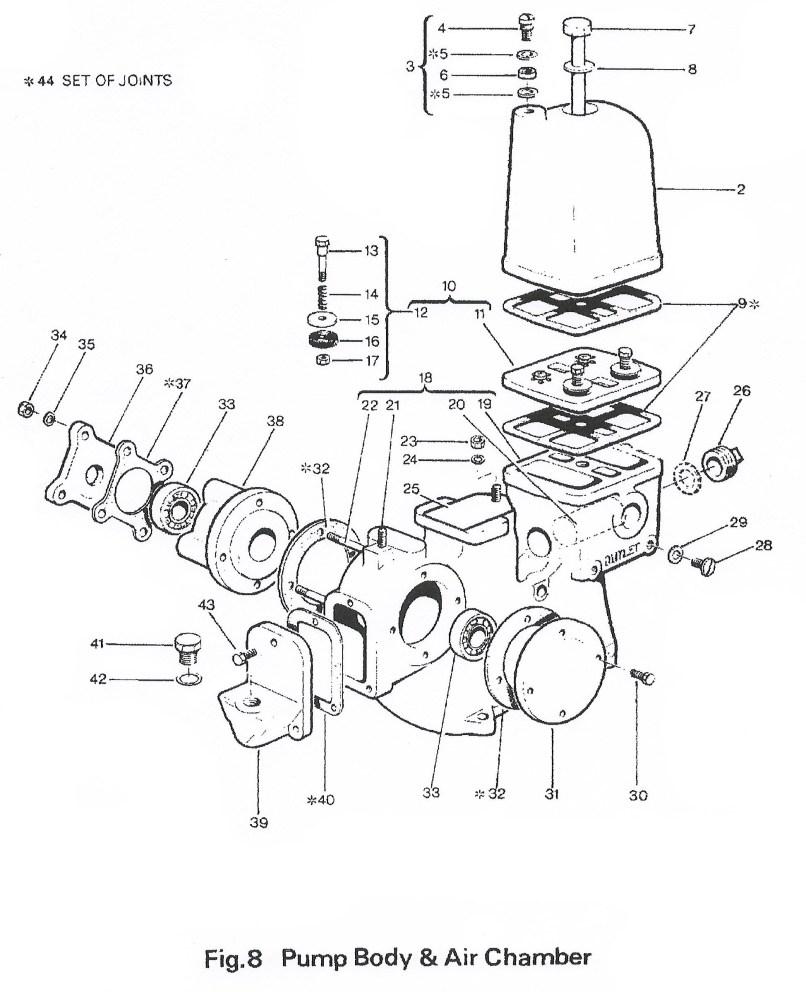 engine spare parts diagram