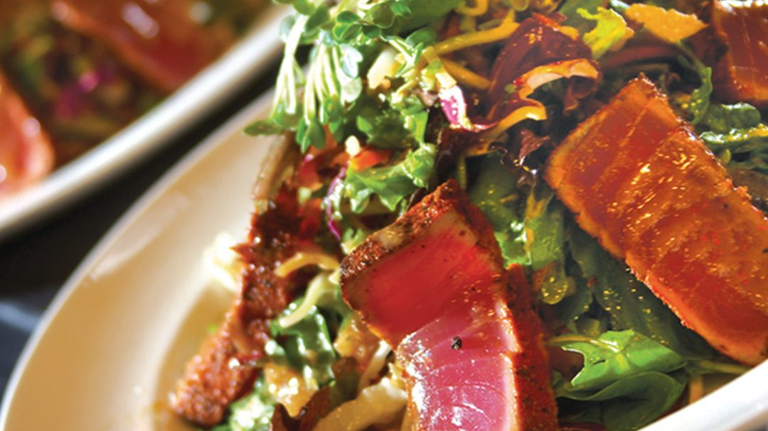a photo of ahi tuna salad