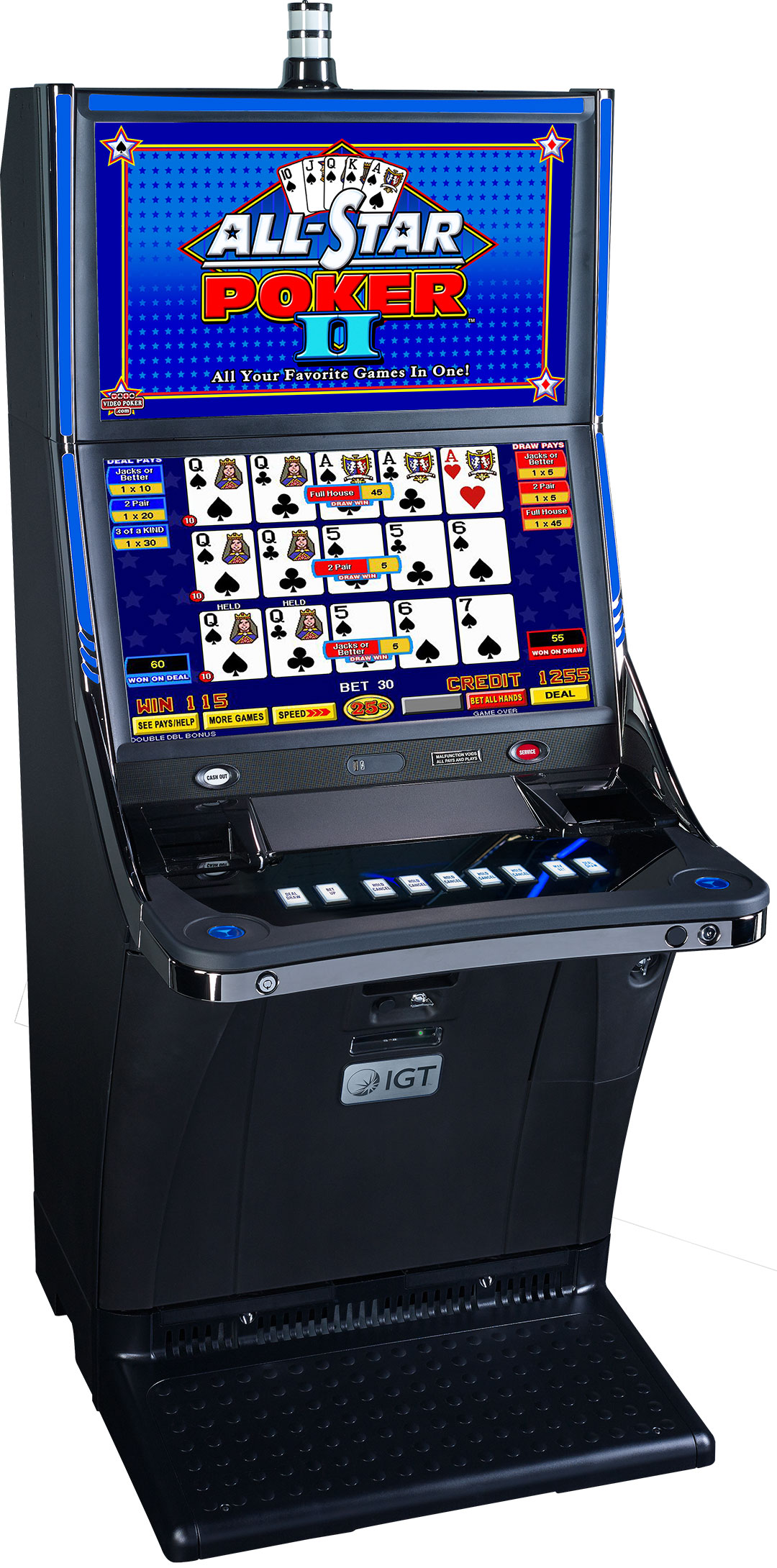 All Star Poker Crystal Slant Cabinet