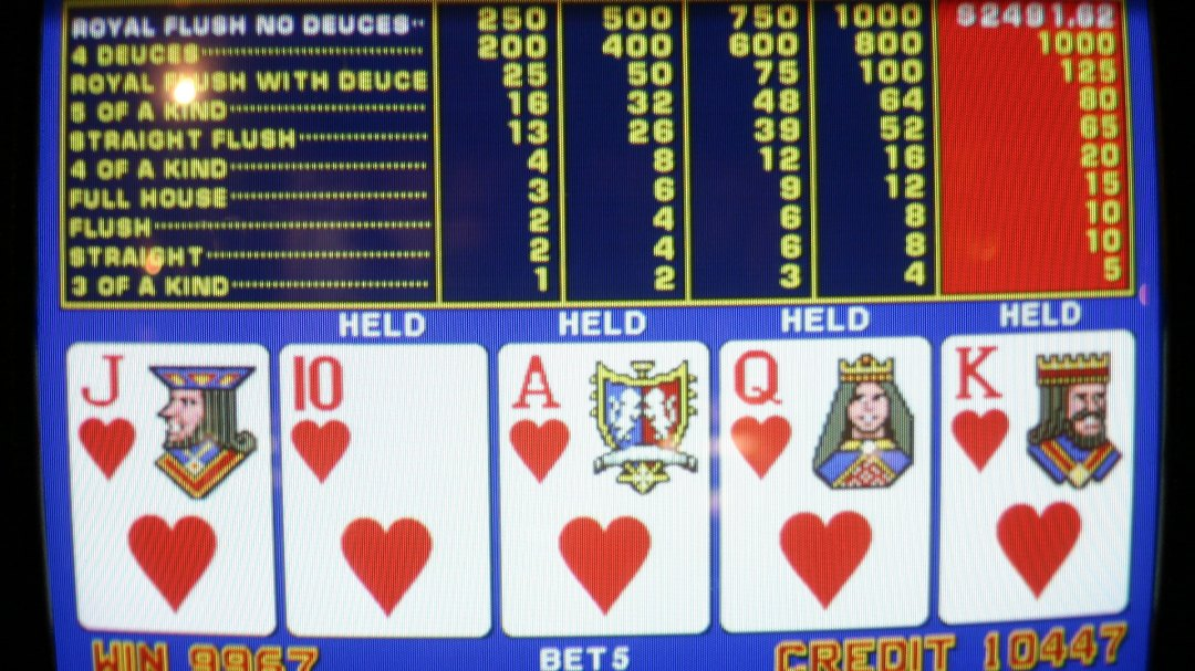 Video Poker Hearts Royal Flush