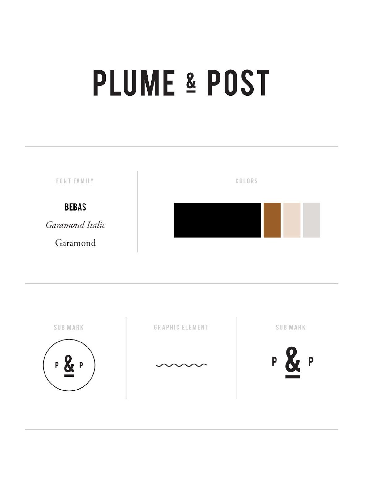 Plume & Post Branding