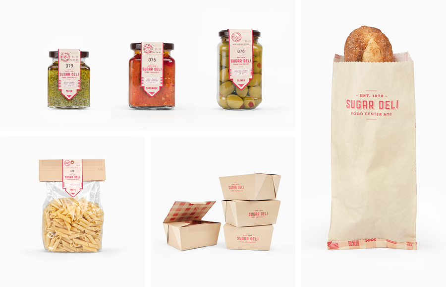 Sugar Deli Food Center NYC visual identity