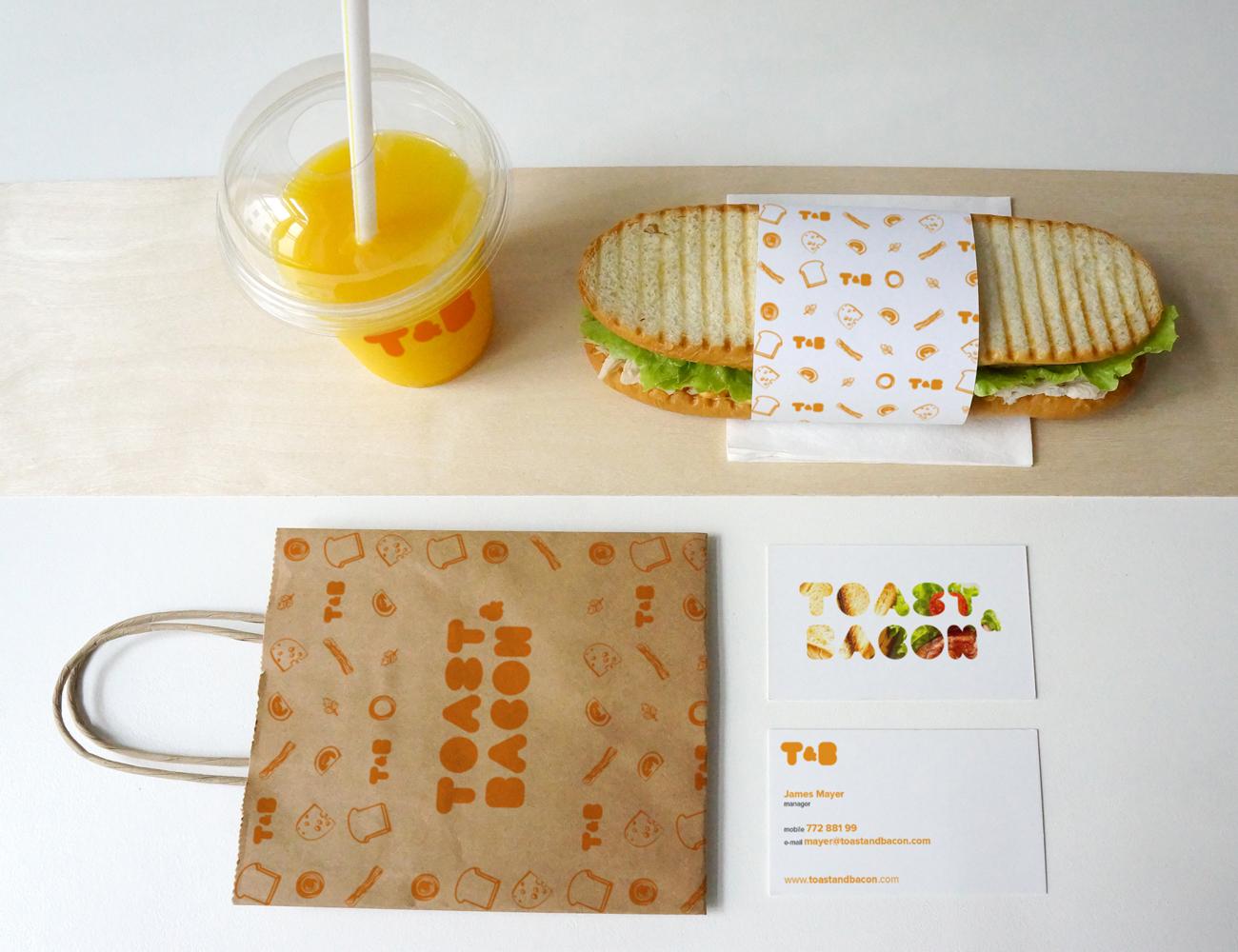 Toast & Bacon restaurant branding
