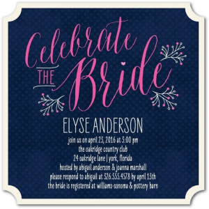 Fine Celebration Shower Invitations