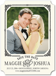 Stunningly Framed Save The Dates
