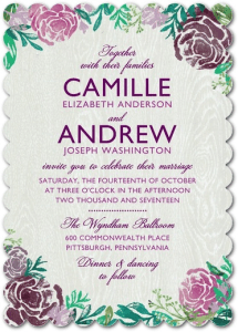 Stylish Floral Wedding Invitations