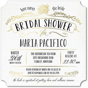 Truly Charming Shower Invitations