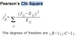 Rumus Chi Square