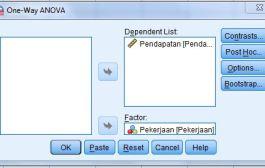 Uji ANOVA - One Way Anova dalam SPSS
