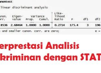 Interprestasi Analisis Diskriminan