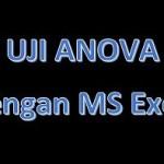 Cara Uji Anova dengan Excel