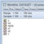File Kerja Regresi Linear dengan Eviews
