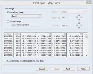 setting import data panel dari excel ke eviews