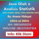 Jasa Bantuan Olah Data Statistik Anwar Hidayat