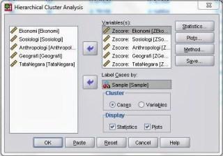 Analisis Cluster Hirarki dengan SPSS