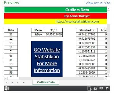 Outlier Data dengan Excel