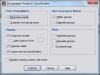 Analisis Diskriminan SPSS Classification