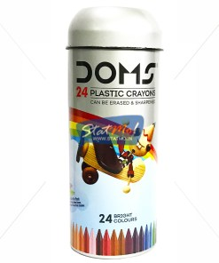 Doms Plastic Crayons 24 Shades Tin Pack by StatMo.in