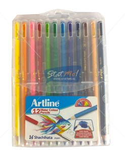 Artline Water Colour Pencils 12 Shade by StatMo.in